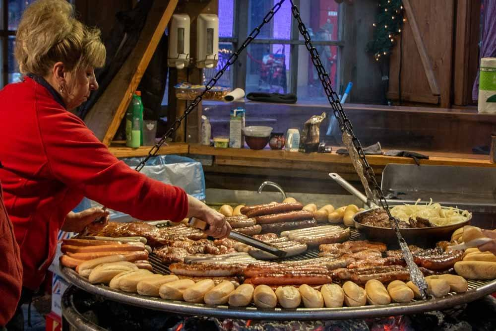 Food Vendor at Hamburg Christmas Market
