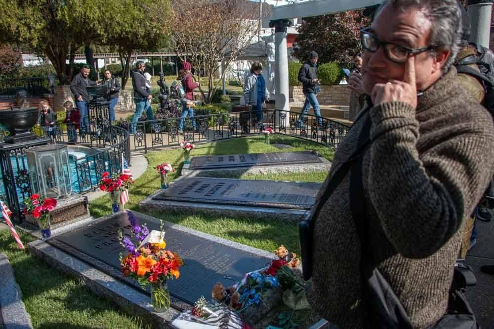 Graves at Graceland in Memphis