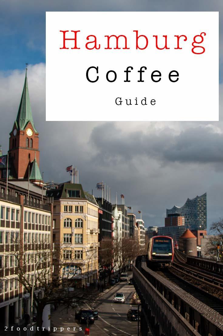 Pinterest image: image of Hamburg with caption reading 'Hamburg Coffee Guide'