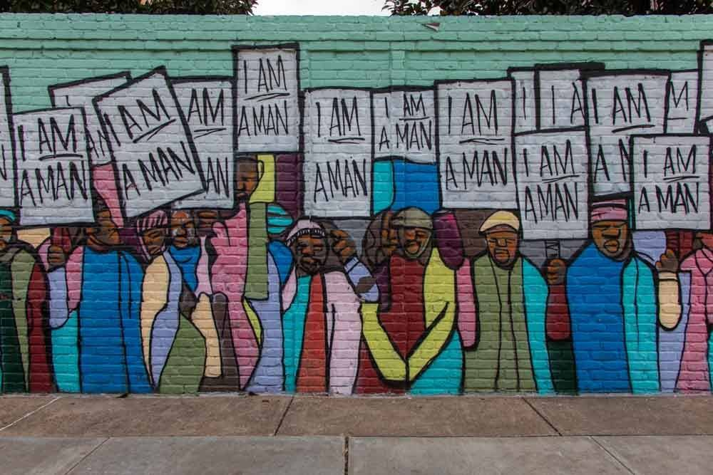 I Am A Man Street Art in Memphis