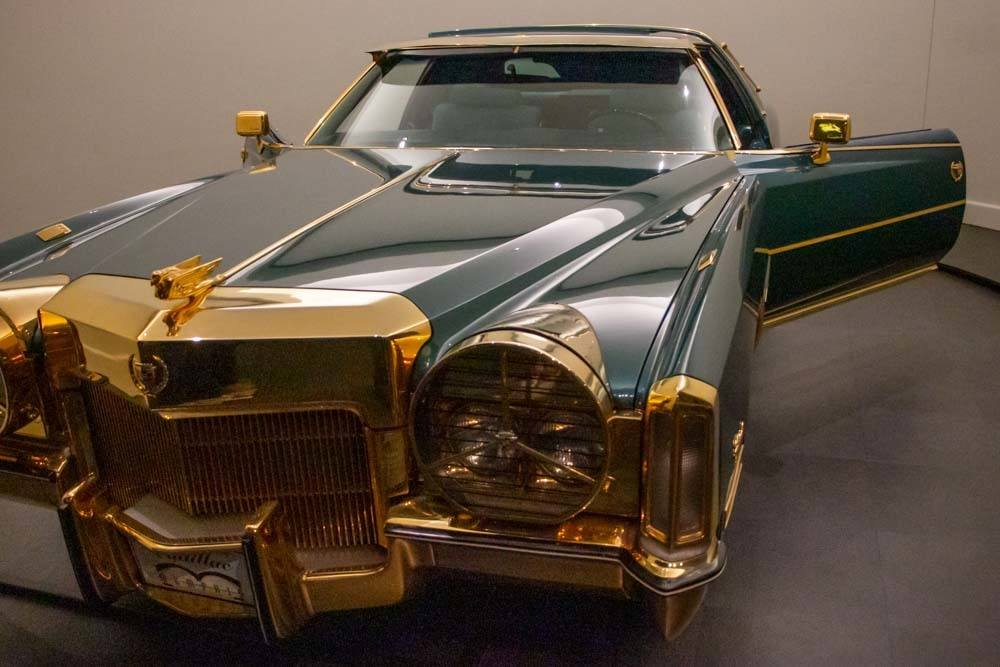 Isaac Hayes Gold-Plated Cadillac at Stax Museum in Memphis
