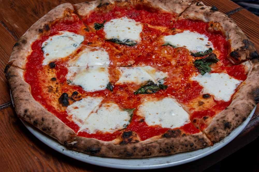 Margherita Pizza at Zero Otto Nove in the Bronx