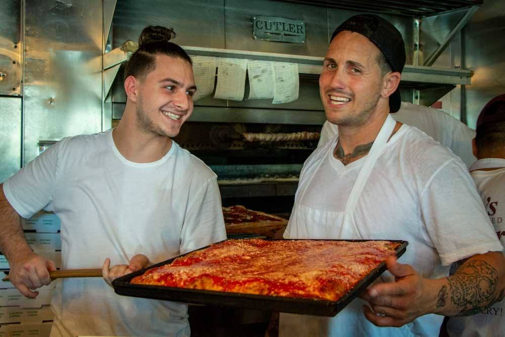Pizza Dudes at Nonnas Old Fashioned Pizzeria