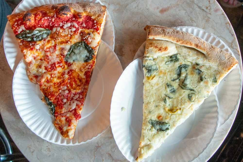 Pizza Slices at Artichoke in Brooklyn