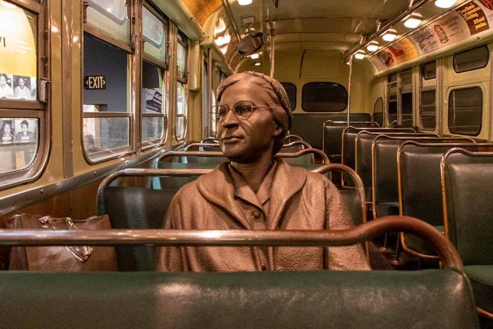 Rosa Parks Bus Exhibit at the National Civil Rights Museum in Memphis