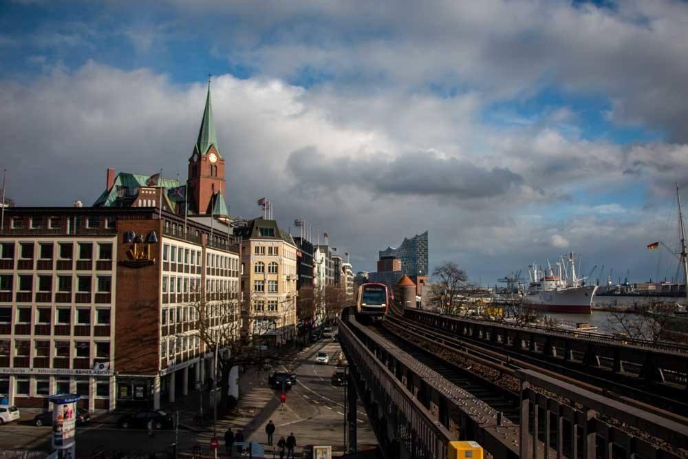 S-Bahn in Hamburg Germany