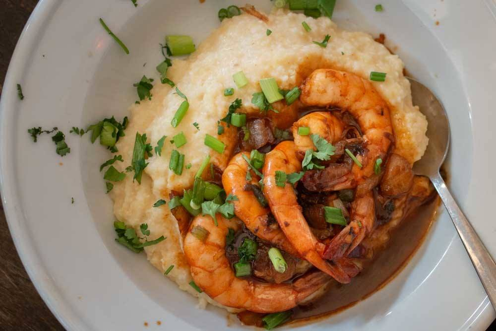 Shrimp and Grits at Beauty Shop in Memphis
