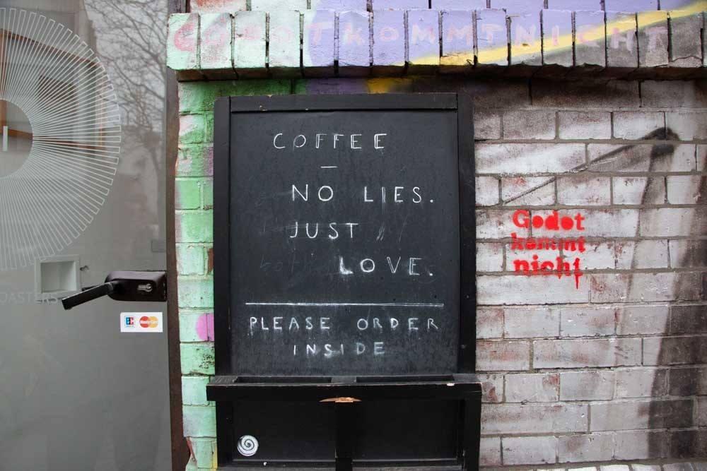 Sign at Hermetic in Hamburg Germany