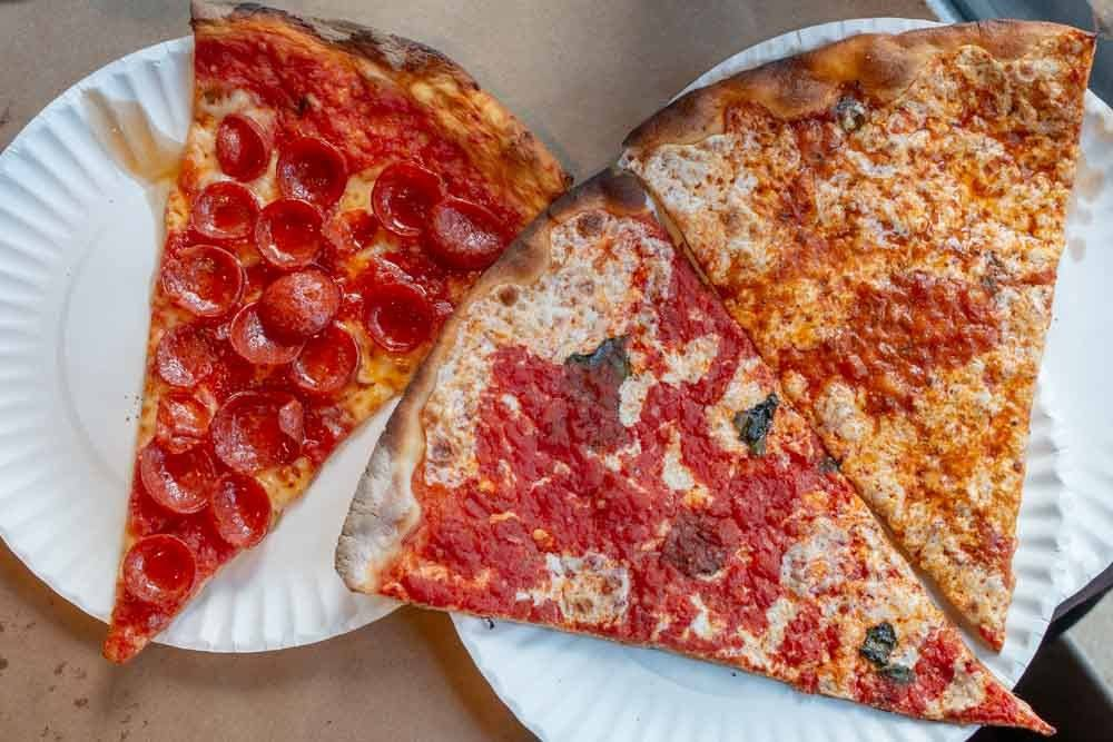 Slices at Joe and Pats Pizzeria in Staten Island