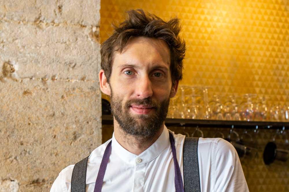 Chef Arnaud Laverdin at La Bijouterie in Lyon France