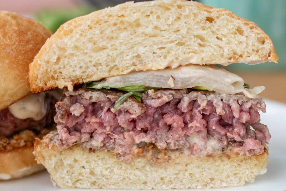 Hamburger at A La Piscine in Lyon France