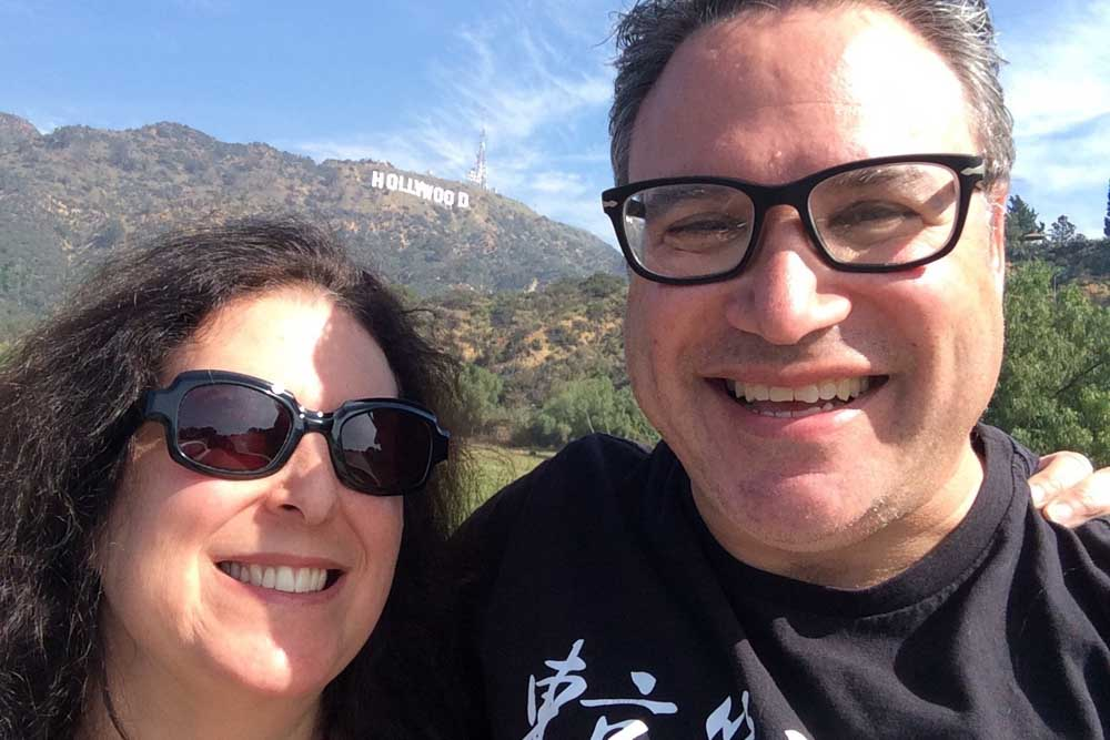 Hollywood Sign Selfie