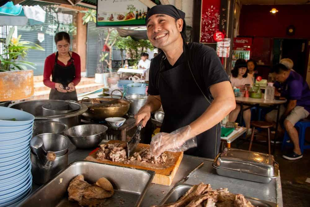 Thai Beef Noodle Soup Vendor in Bangkok