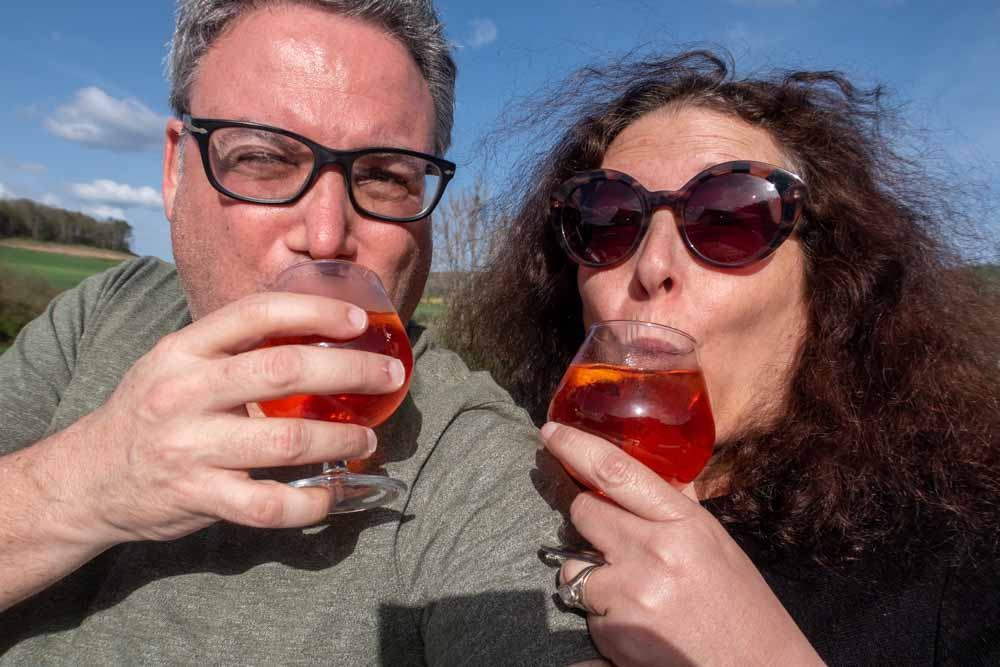 Aperol Spritz on European Waterways Barge Cruise