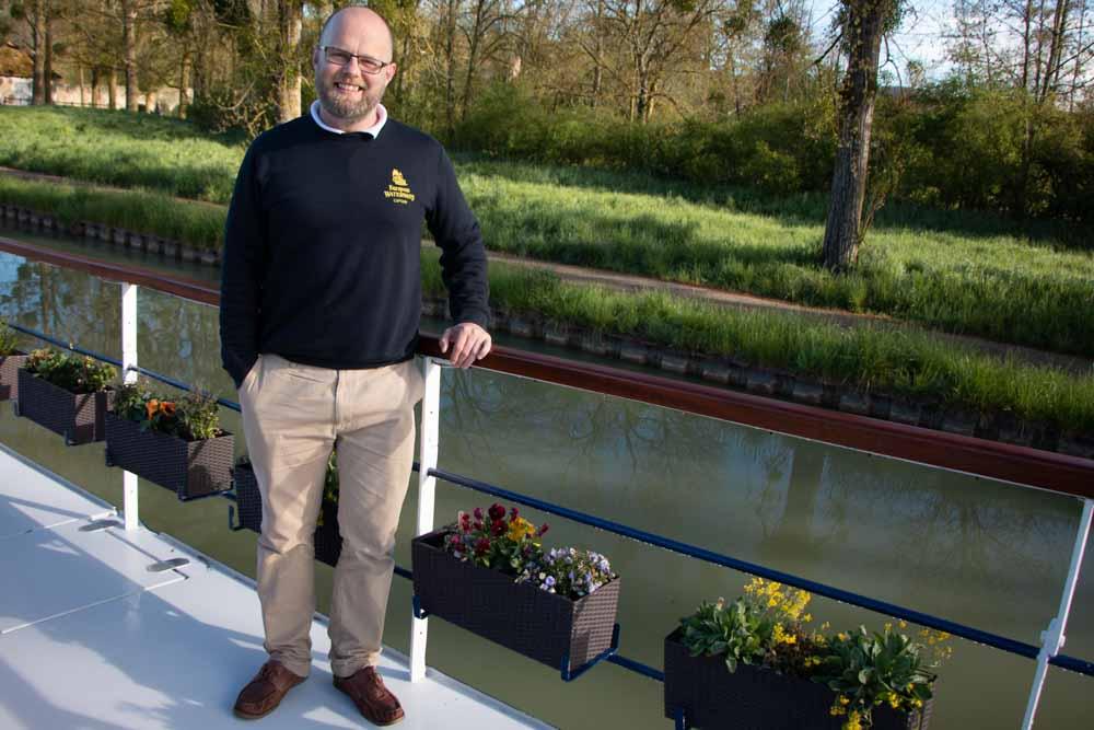 Captain Dan on European Waterways Barge Cruise