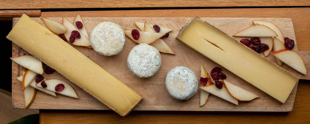 Cheese Board on European Waterways Barge Cruise