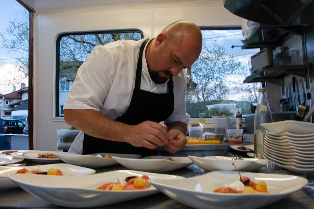 Chef Joss Roper on European Waterways Barge Cruise