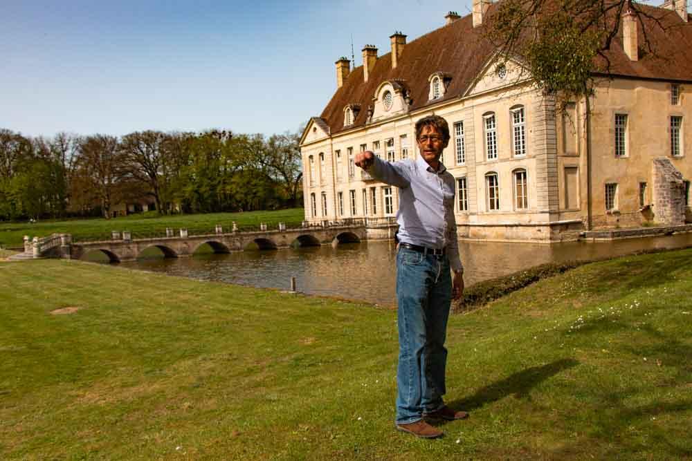 Count Bertrand de Vogue at Chateau de Commarin in Burgundy France