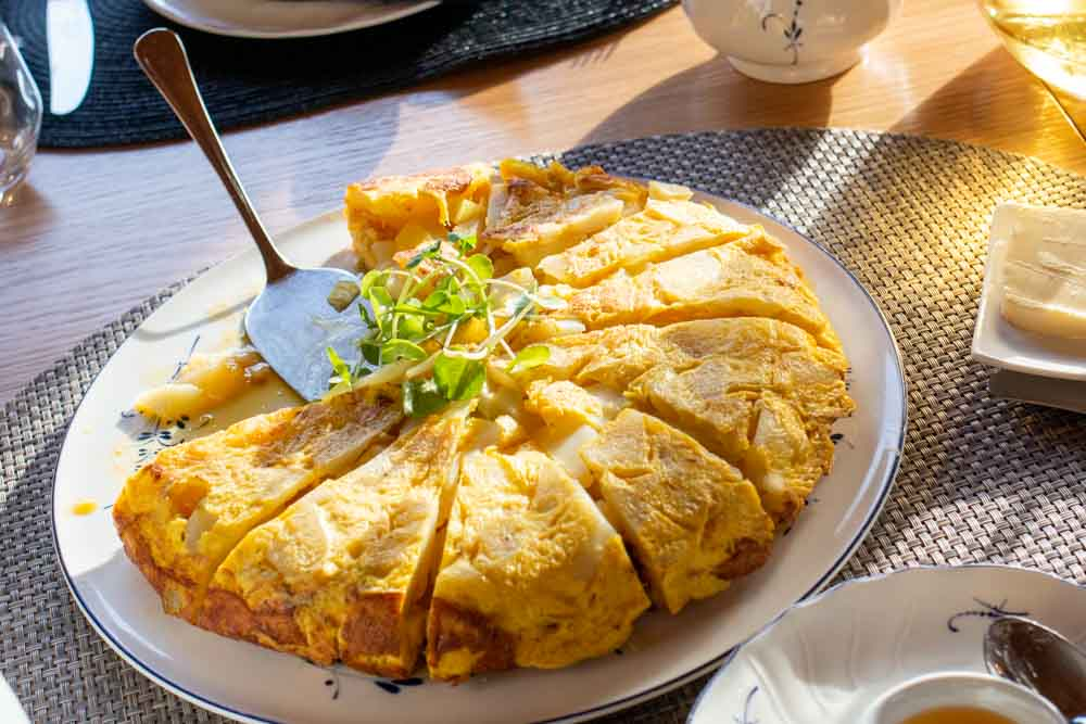 Tortilla Espanola on European Waterways Barge Cruise