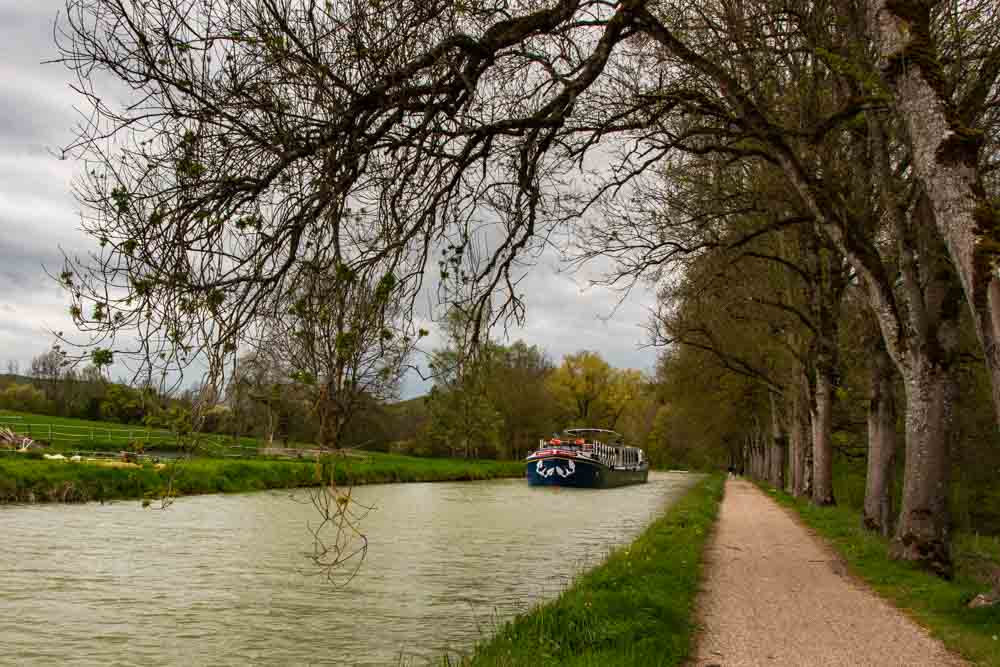 European Waterways Barge on Burgundy Canal