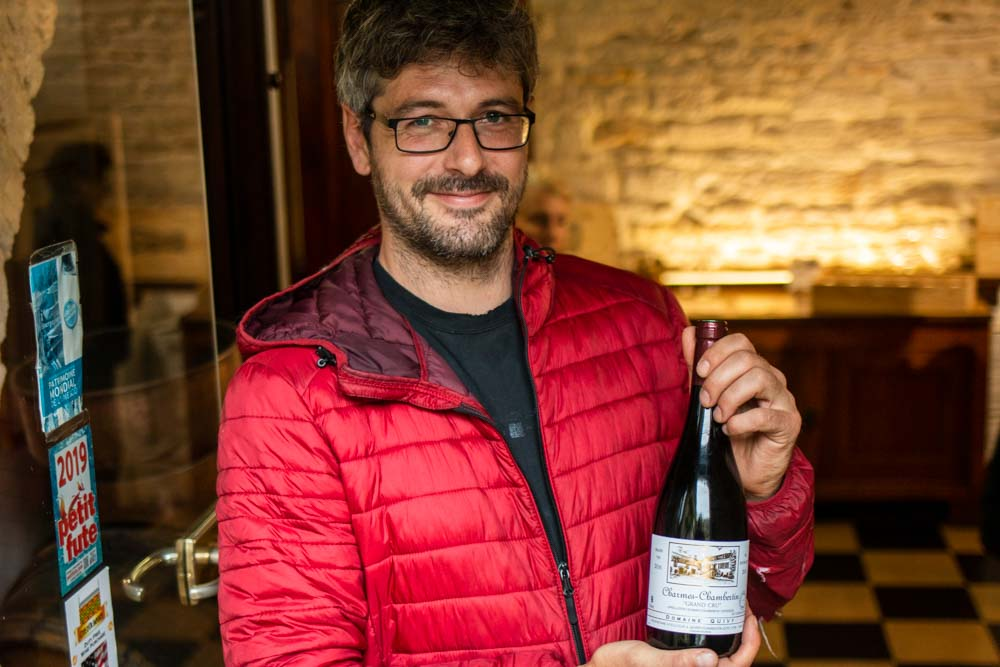 Johan Chatelus at Domaine Quivy in Gevery-Chamberlin in Burgundy France