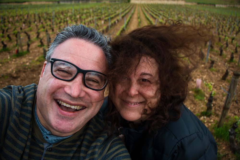 Selfie at Lenfant Jesus Vineyard in Burgundy France