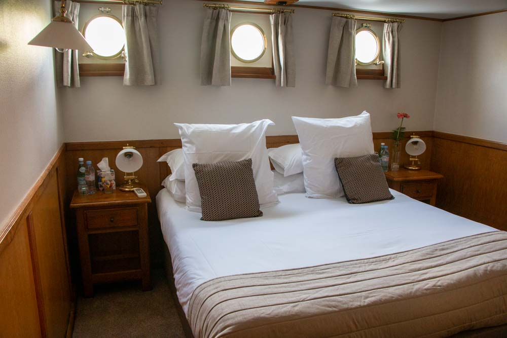 Stateroom on European Waterways Barge Cruise
