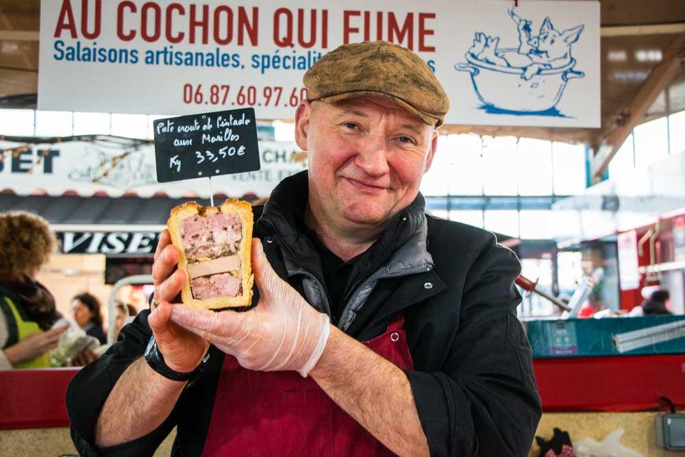 Vendor at Dijon Market