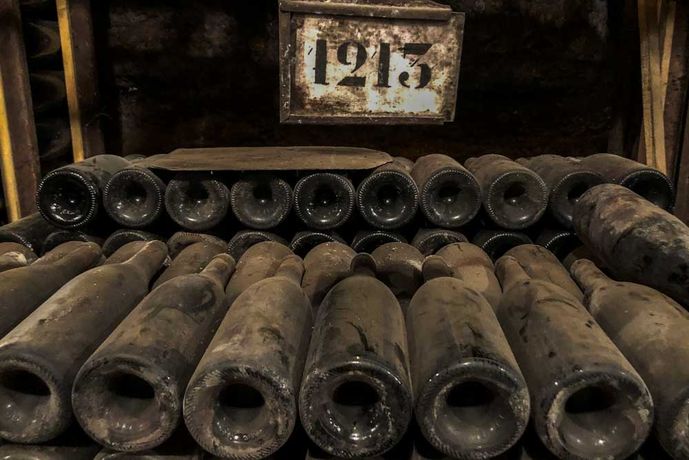 Vintage Bottles at Domaine Bouchard Pere et Fils in Burgundy