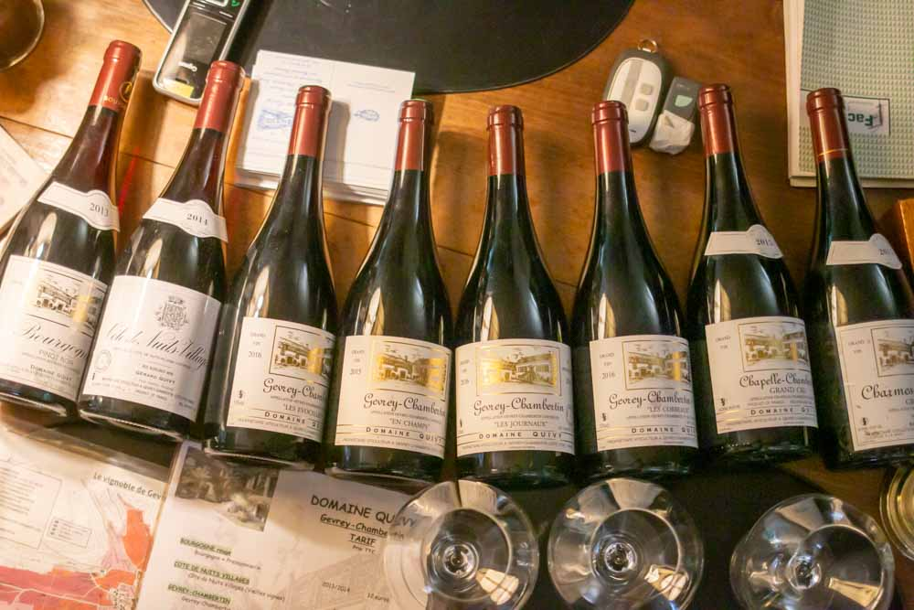 Wine Tasting at Domaine Quivy in Gevery-Chamberlin in Burgundy France