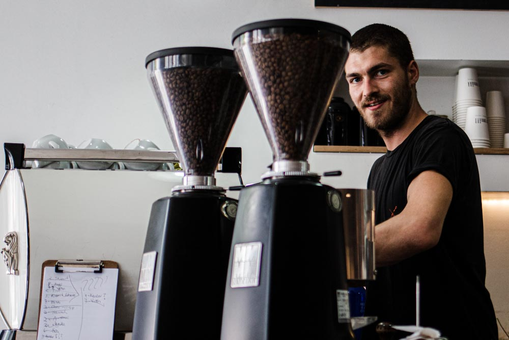 Barista at The Mill in Lisbon
