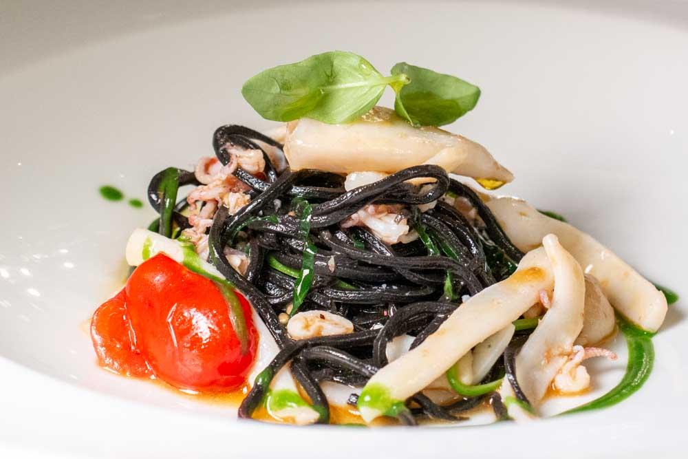 Black Spaghettini at Ristorante Il Desco in Verona Italy