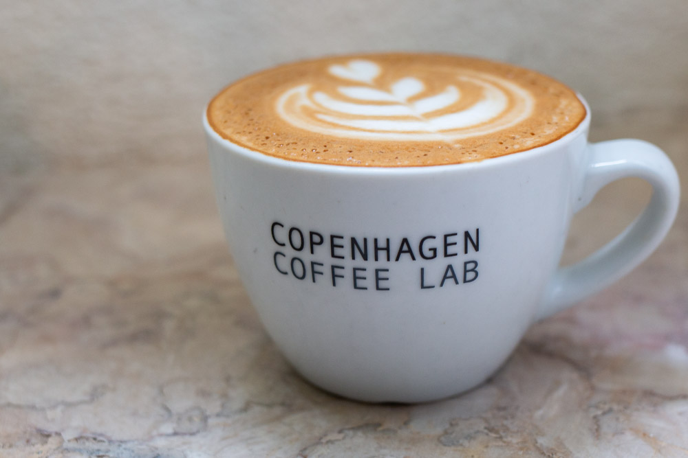 Cappuccino at Copenhagen Coffee Lab in Lisbon