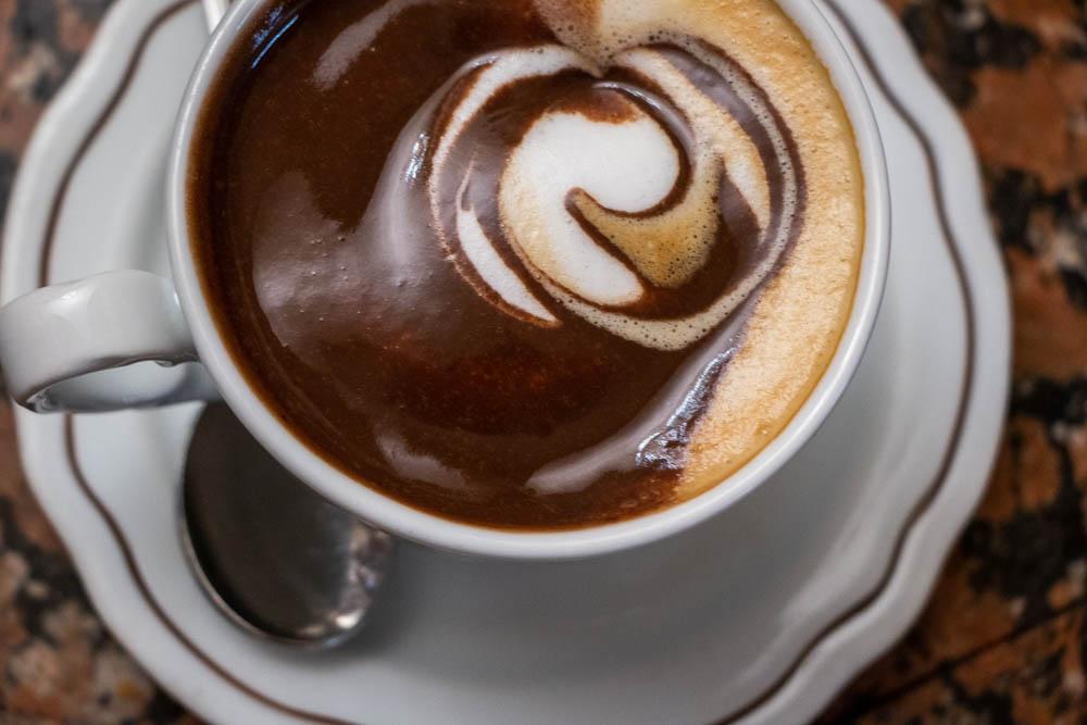 Chocolate Cappuccino at Caffe Borsari in Verona Italy