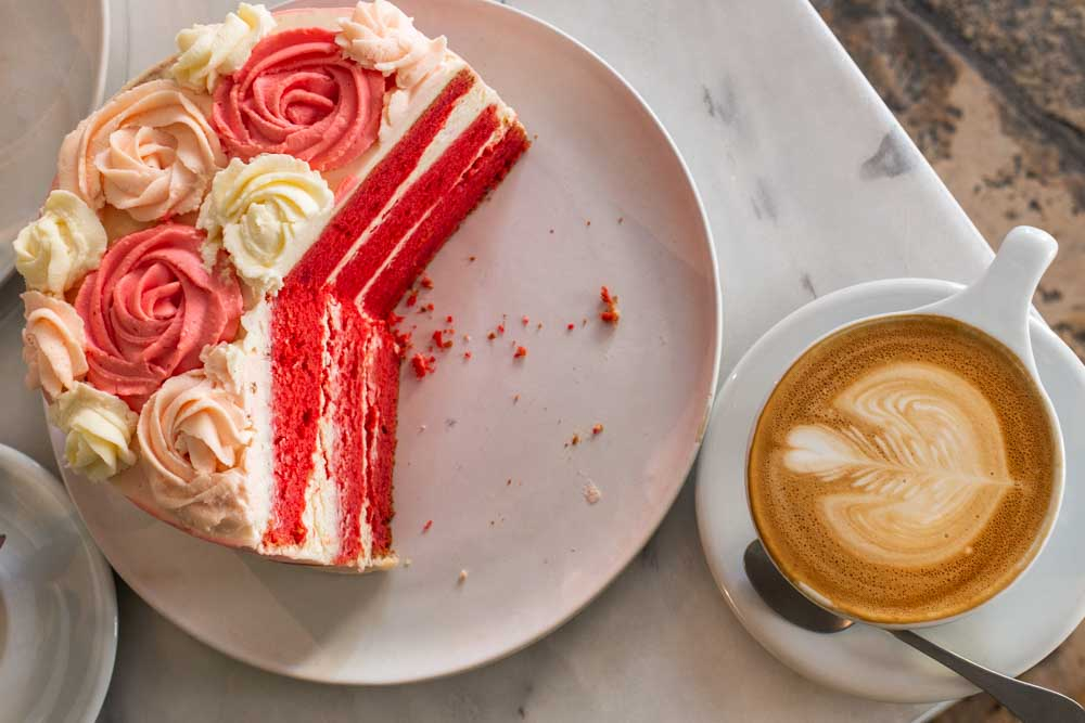 Coffee and Cake at Comoba in Lisbon