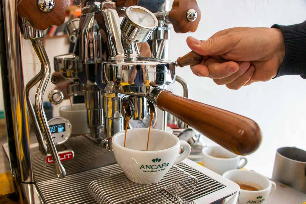 Coffee at Garage Coffee Bros. Roaster in Verona Italy