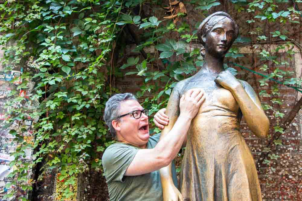 Daryl and Juliet Statue at Juliets House in Verona Italy