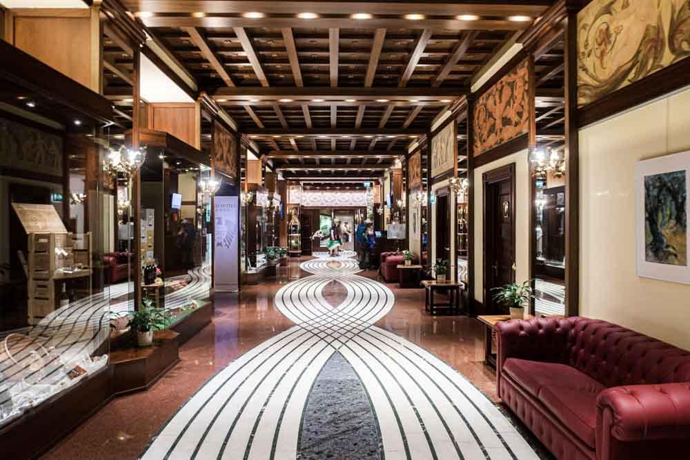 Lobby at Grand Hotel in Trento Italy
