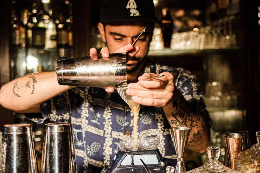 Mixologist at Cafe Klandestino in Lisbon