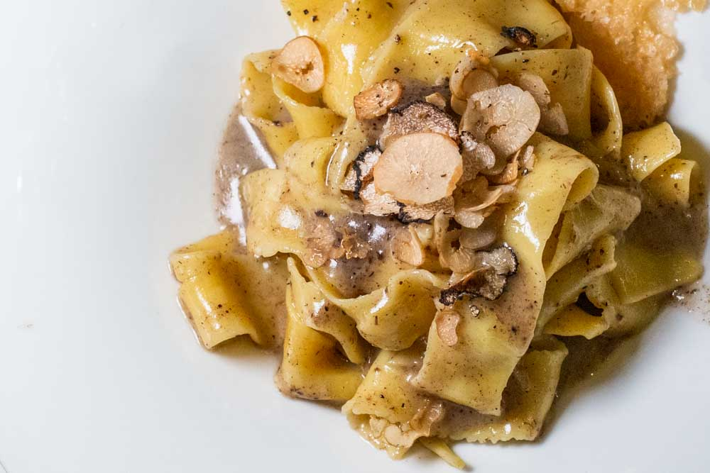 Pasta with Truffles at Torcolo in Verona Italy