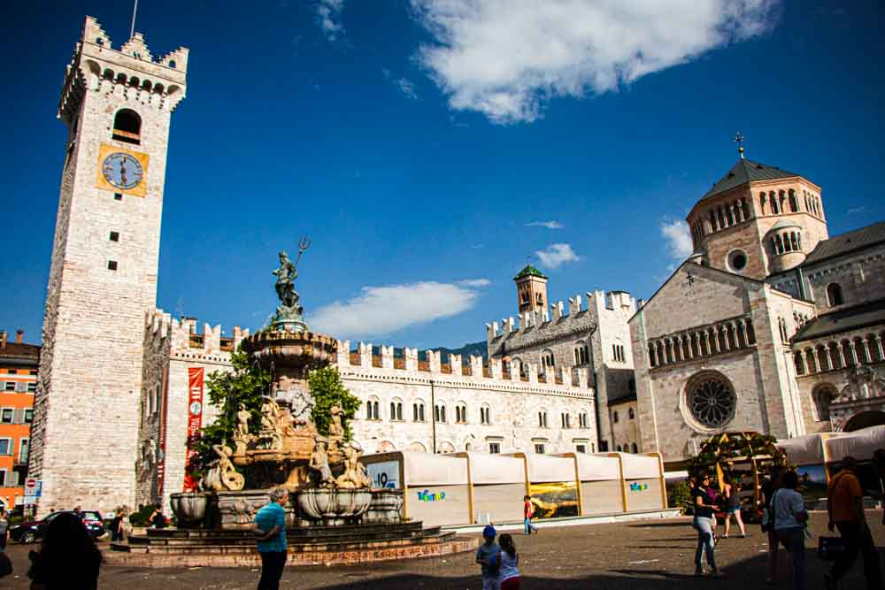 Piazza Duomo in Trento Italy