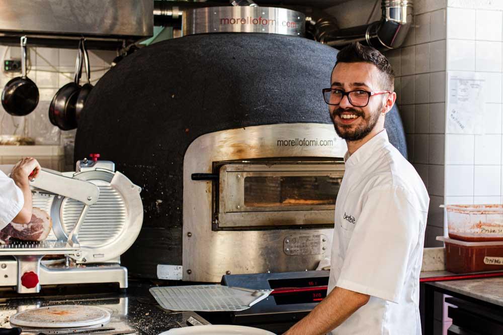 Pizza Maker at Berbere in Verona Italy