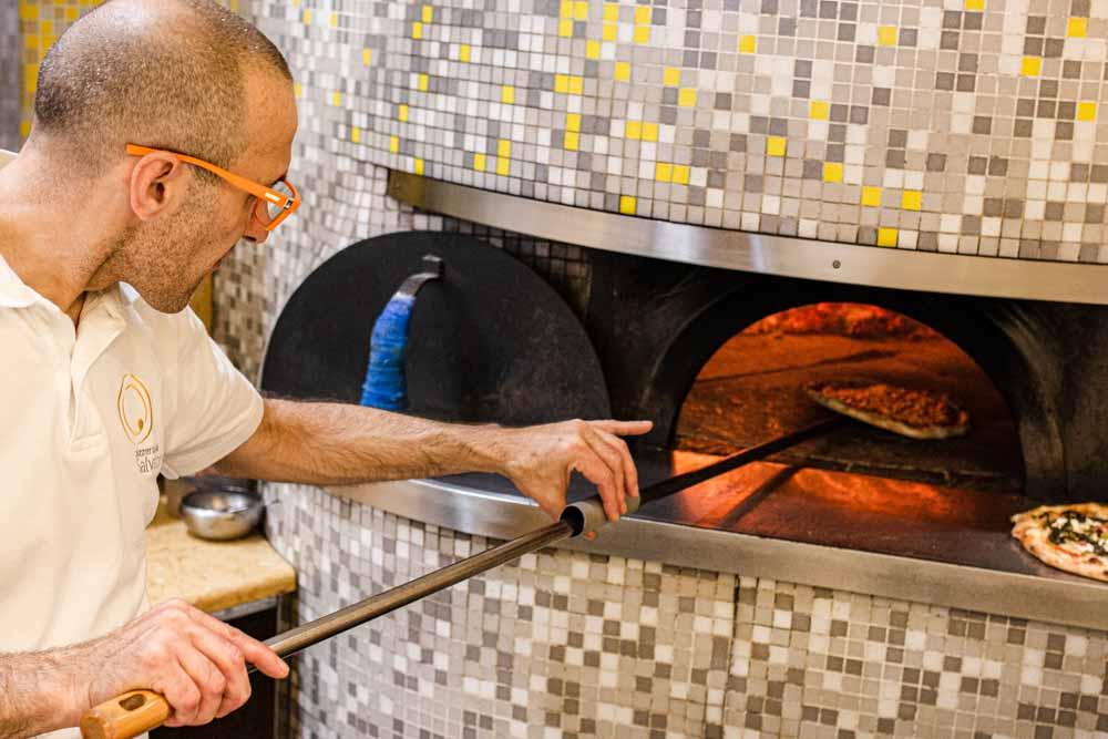 Pizza Oven at Pizzeria da Salvatore in Verona Italy