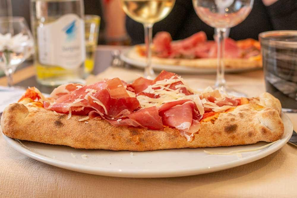 Pizza Strudel at Pizzeria al Duomo in Trento Italy