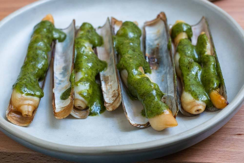 Razor Clams at Prado in Lisbon