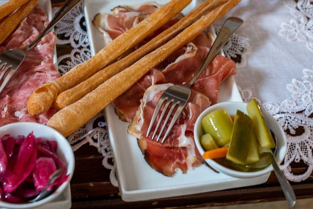 Salumi Plate at Trattoria Pane e Vino in Verona Italy
