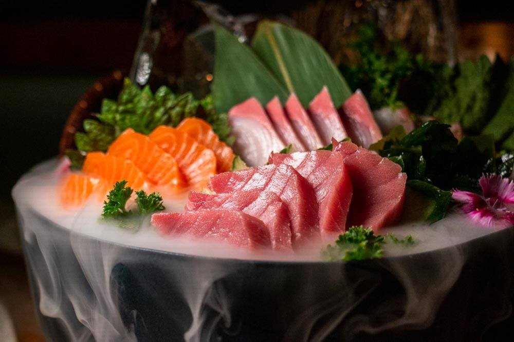 Sashimi at Yakuza at Lisbon Restaurants