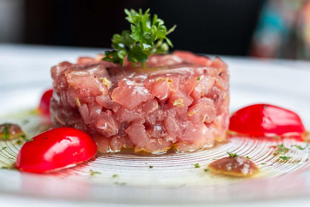 Tuna Tartare at Pescheria I Masenini in Verona Italy