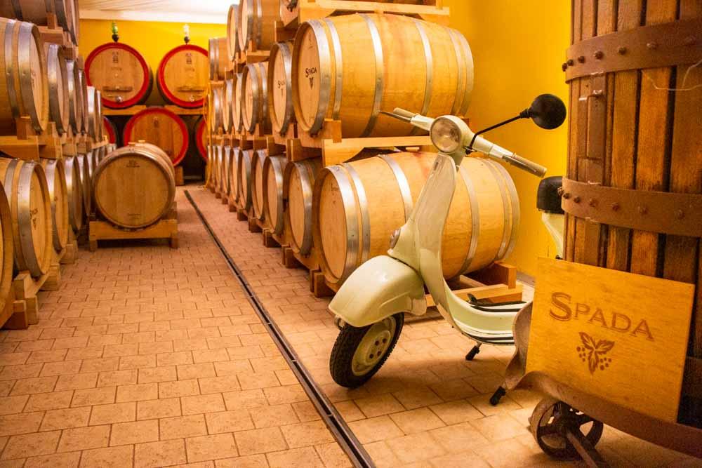 Wine Barrels at Azienda Agricola Spada in Valpolicella Italy