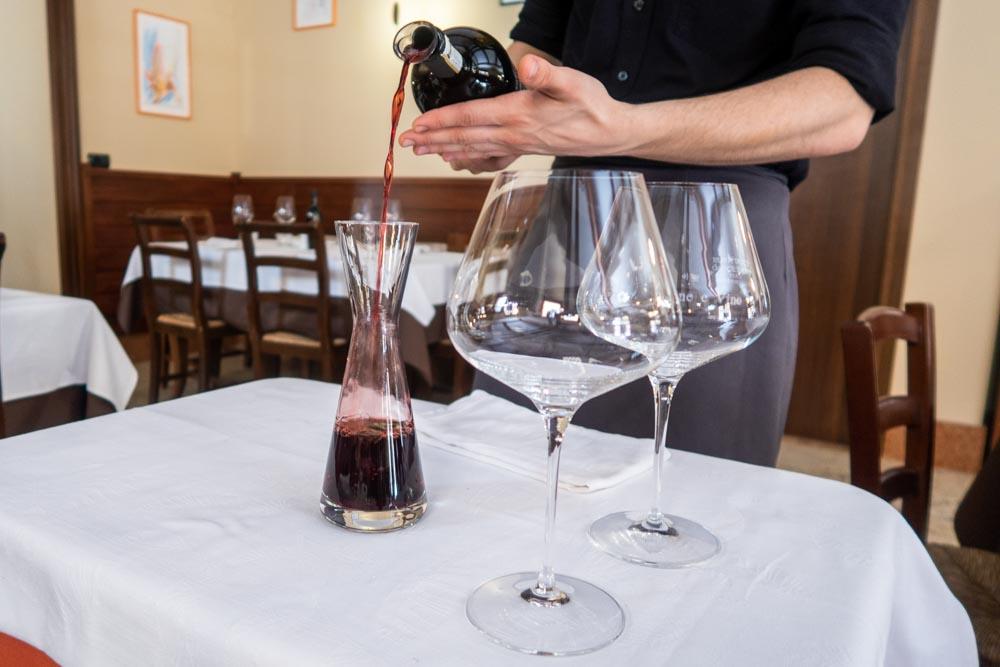 Wine at Trattoria Pane e Vino in Verona Italy(1)